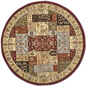 Safavieh Lyndhurst Multi/Ivory Round Indoor Machine-Made Area Rug (Common: 10 X 10; Actual: 10-Ft W X 10-Ft L X 10-Ft Di