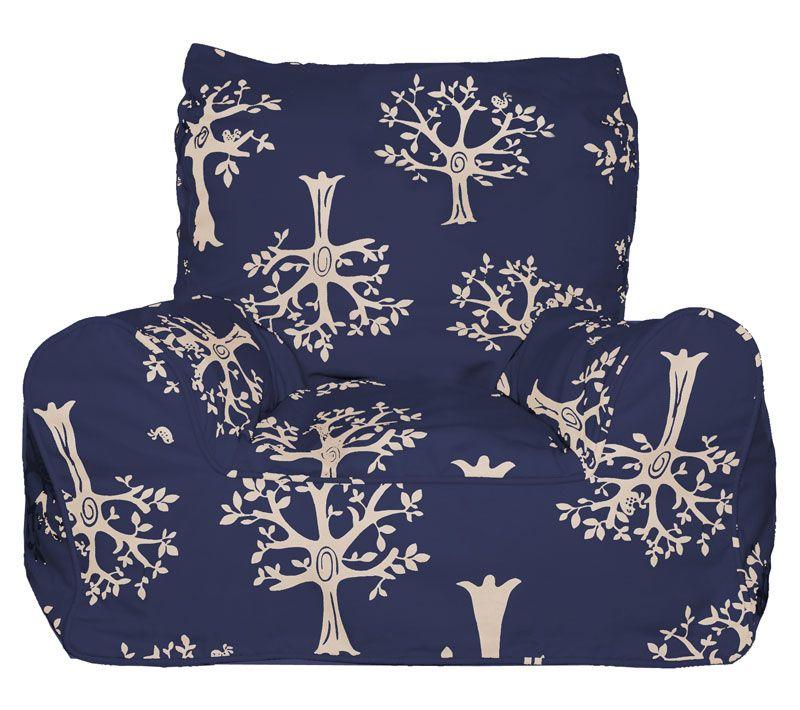 Lelbys-Kids Bean Bags-Bean Chair {Navy Orchard} $109 00