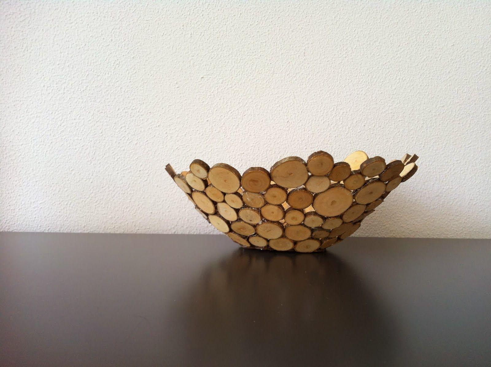 Vaak Knutsel een schaal van houtplakjes   Natuurlijke kunst - Knutselen &OP04
