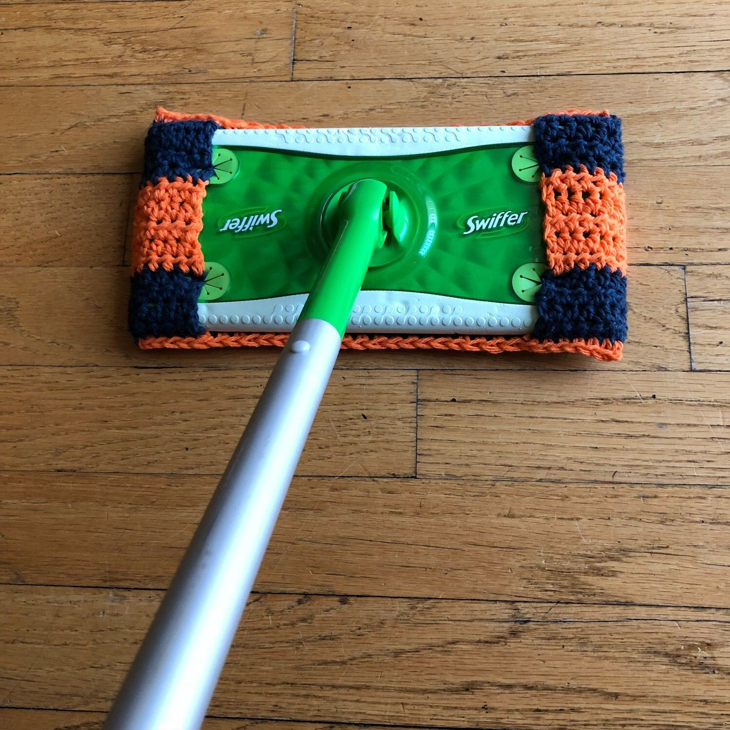 Cleaning my kitchen floor with my amazing mop refill cover