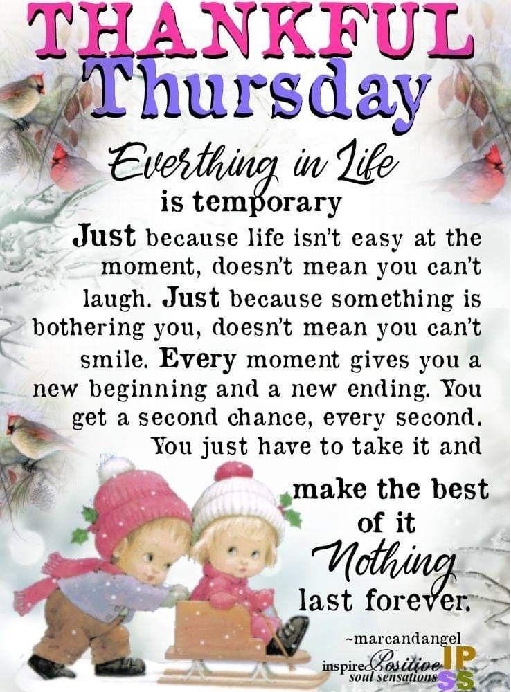 Thankful Thursday Quotes