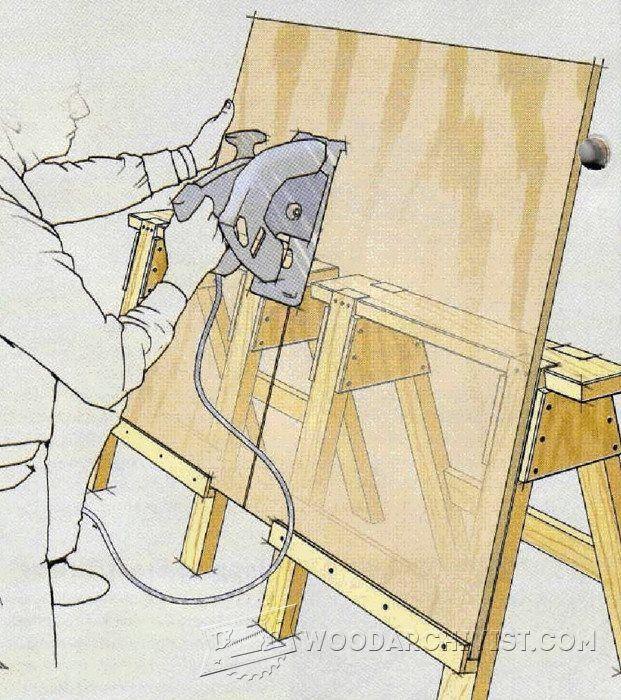 petit banc de scie utile pour refendre les feuilles de contreplaqu trucs et astuces d 39 atelier. Black Bedroom Furniture Sets. Home Design Ideas