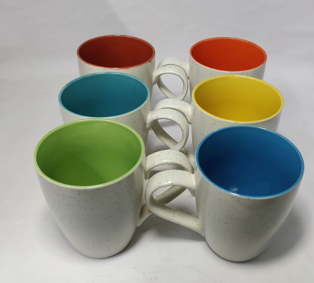 Very Attractive Ceramic Coffee Mugs Pack Of 6 Hand Made By Artisans Of India Somny Fun Cup Mugs Coffee Mugs