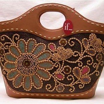 f2f2e38db78218 Isabella Fiore Yvette Vacation Embroidered Bag. Multi-color Tote Bag |  Totes on Sale at Tradesy