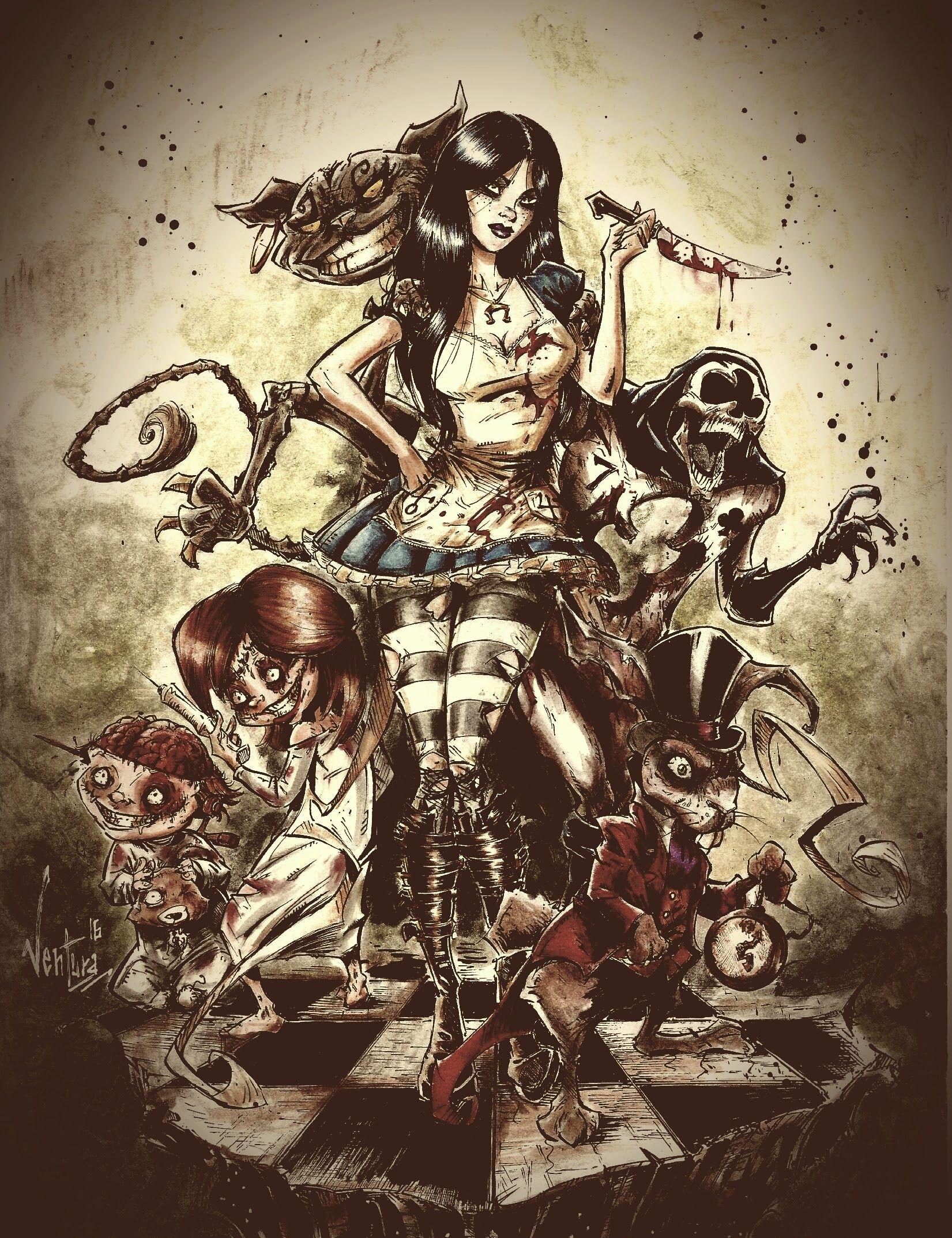 Alice Madness Returns By Marcelo Ventura Dark Alice In