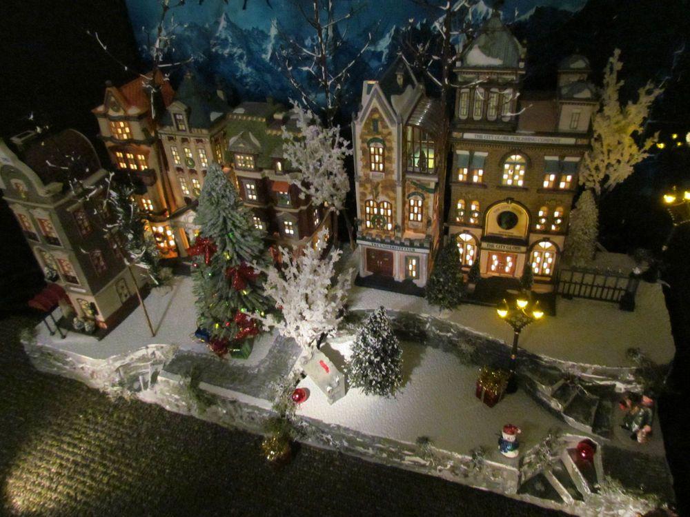 Multi level Curving Christmas Village Display platform base 42x12 ...