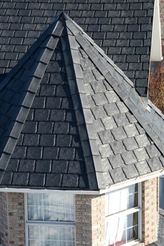 Recycled Rubber Roof Shingles Are An