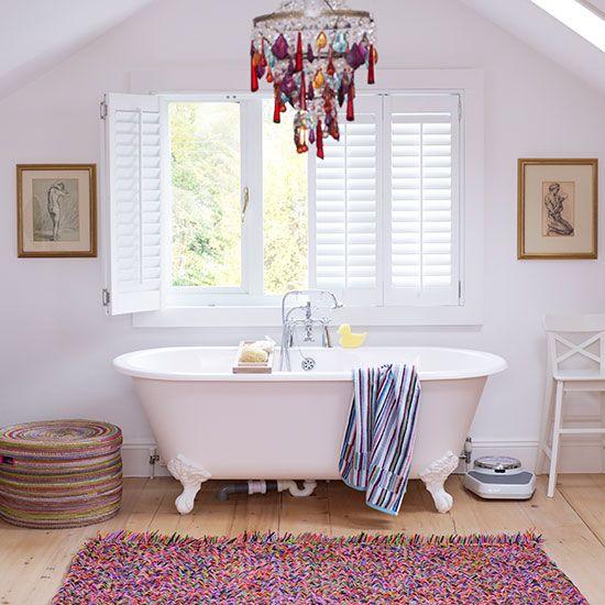 Looking Good Bath Mat Family Bathroom Bathroom Designs And - Black and white harlequin bath mat for bathroom decorating ideas