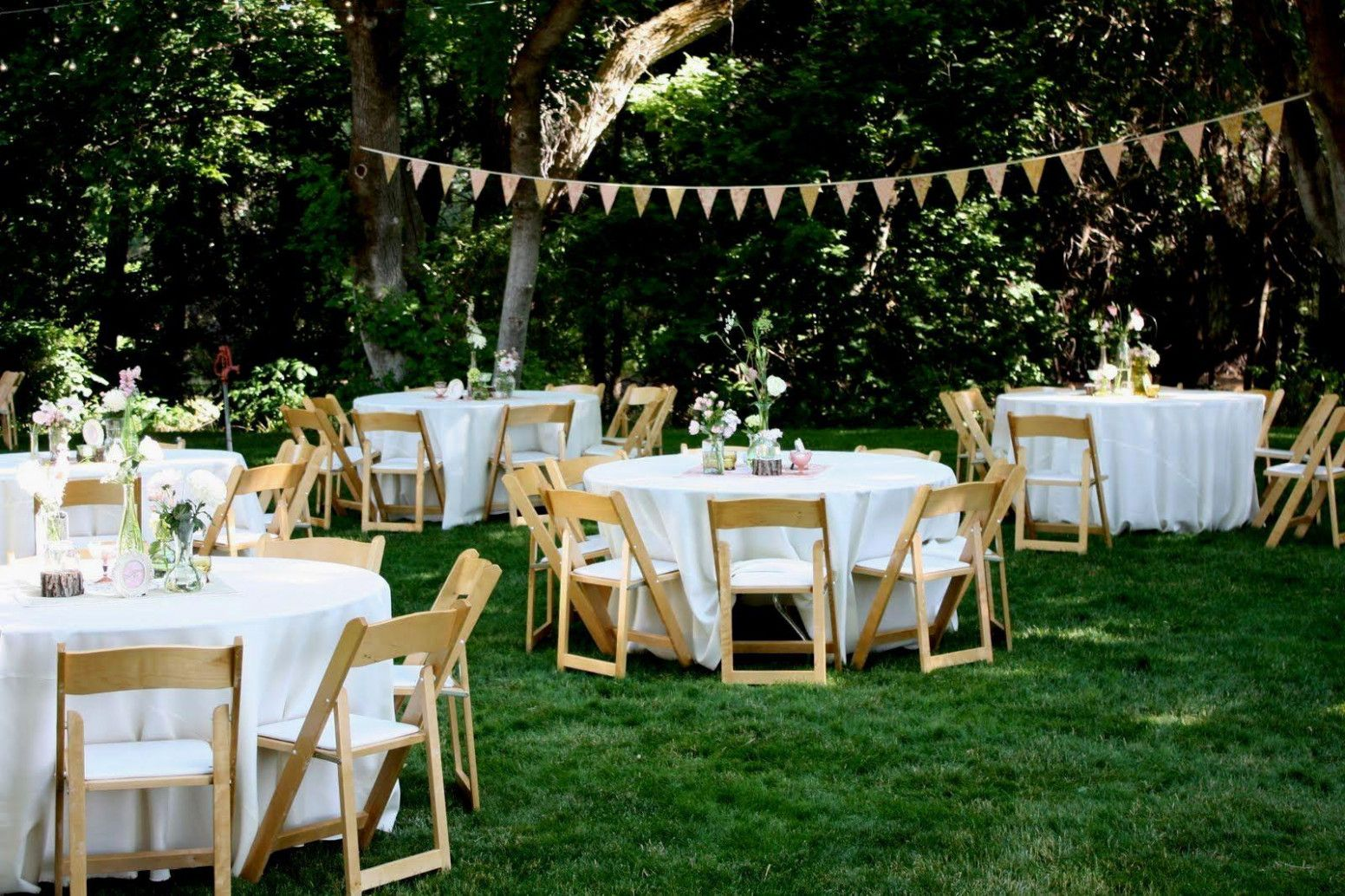 Casual Backyard Wedding At Home | Backyard bbq wedding ...
