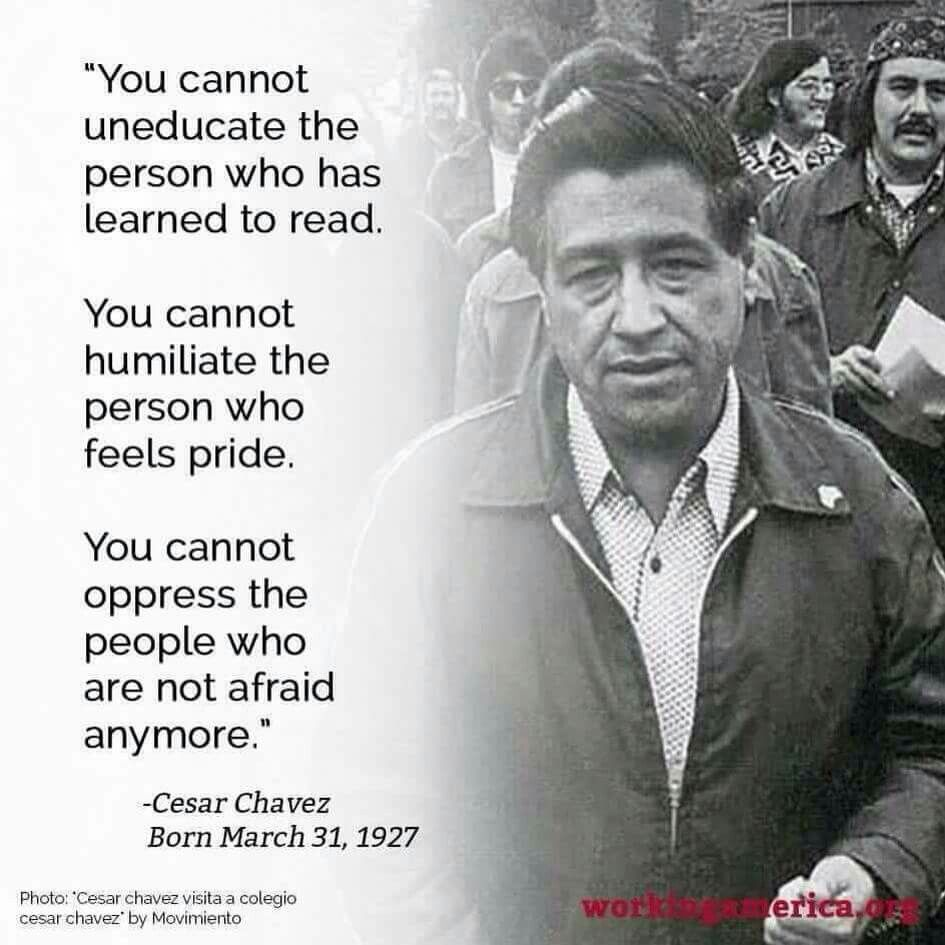 Cesar Chavez Chicano Quote Cesar Chavez Quotes Humanity Quotes