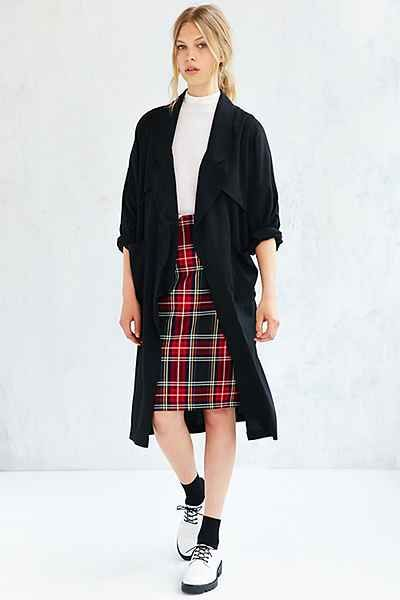 UNIF Drapey Dolman-Sleeve Trench Coat - Urban Outfitters