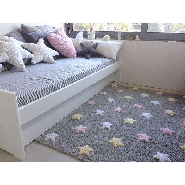 Alfombra habitaci n ni a estrellas tricolor bb - Alfombras habitacion ninos ...