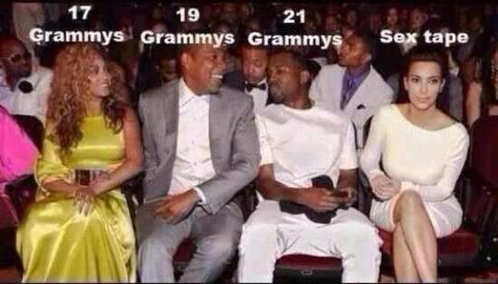 Grammy Beyonce And Jay Z Beyonce And Jay Kim And Kanye