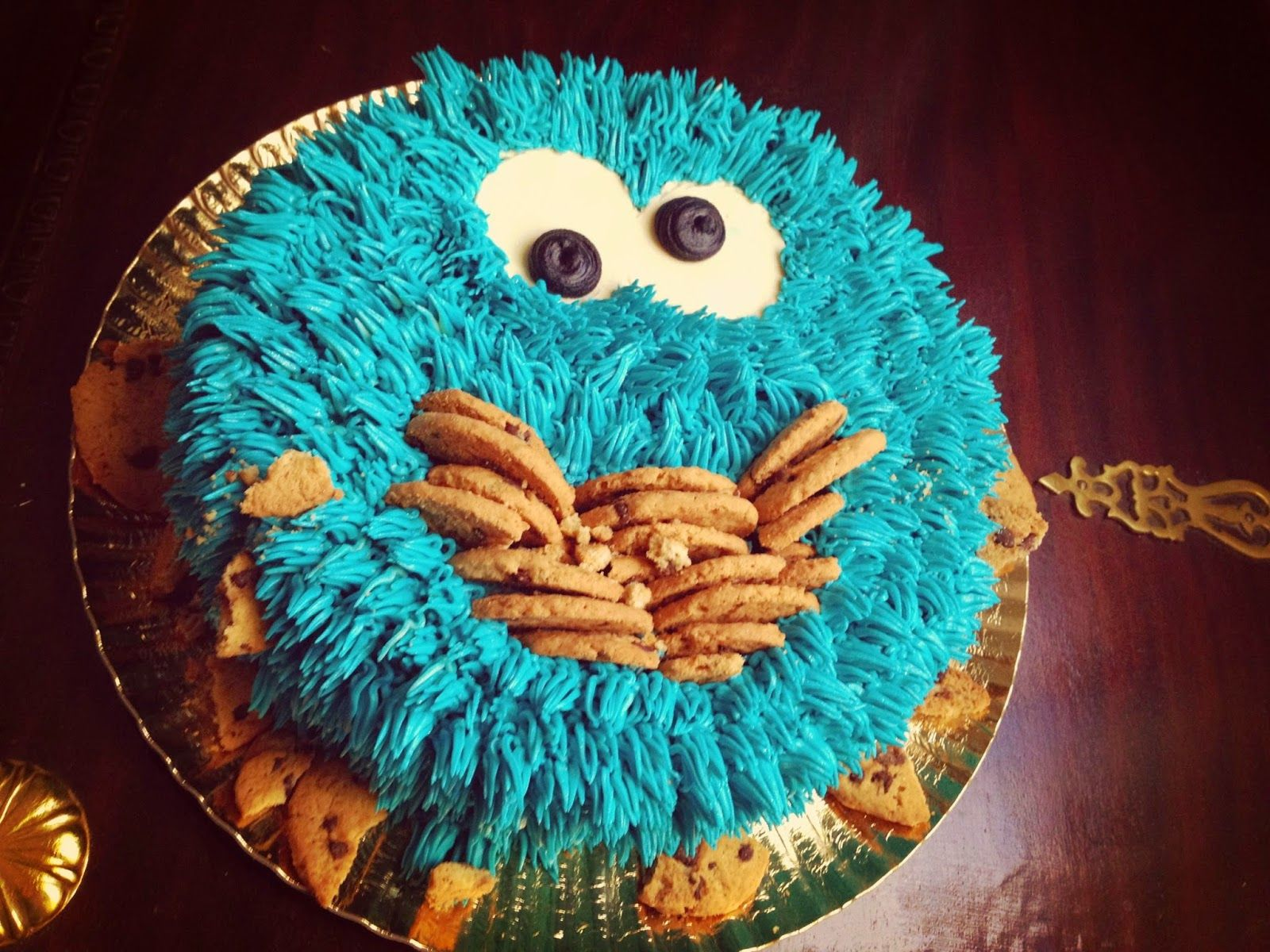 Cookie monster cake :)