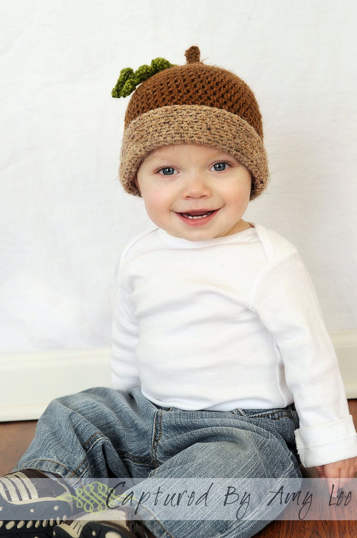 Acorn Baby Hat – Crochet Acorn Hat – Fall Baby Hat – Infant Baby ...