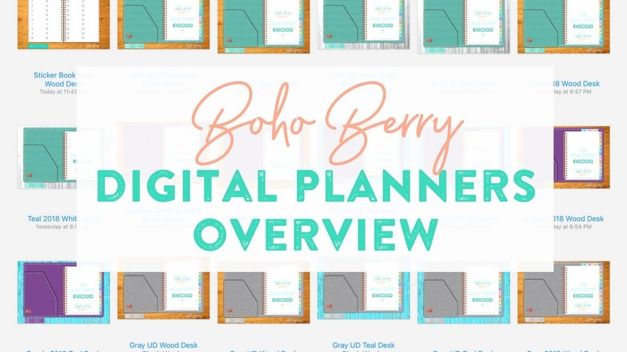 graphic relating to Digital Planners and Organizers named Boho Berry Electronic Planner Evaluate - Which one particular is straight for