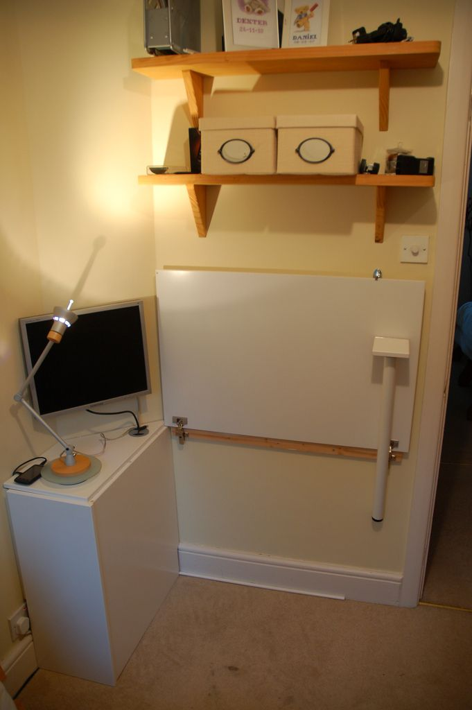 Cupboard Door Folding Desk Ikea Hacks Doors Rh Pinterest Com Diy Flip Down