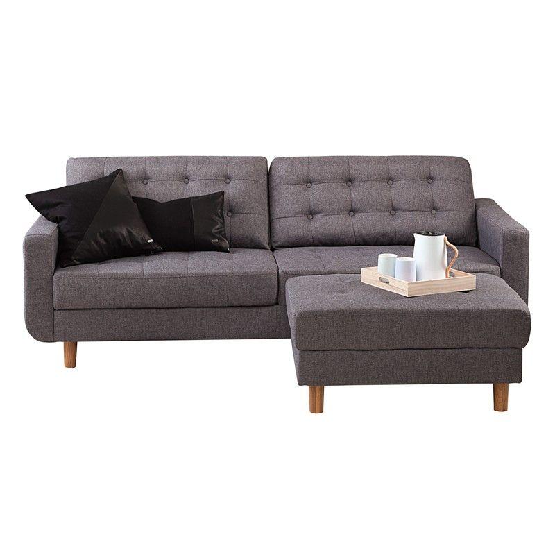 Chicago Sofa Med Puff   Sinnerup 3999 Dkk L: 2110 B: 860 H: