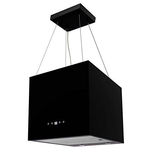 Dark Marble Bathroomdesigns: SIA IEX40BL 40cm Black Designer Lantern Island Cooker Hoo