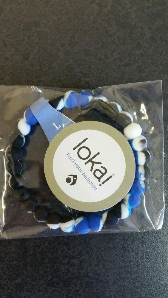 Lokai Bracelets! Brand New colors! Blue/Black/White | Color blue ...