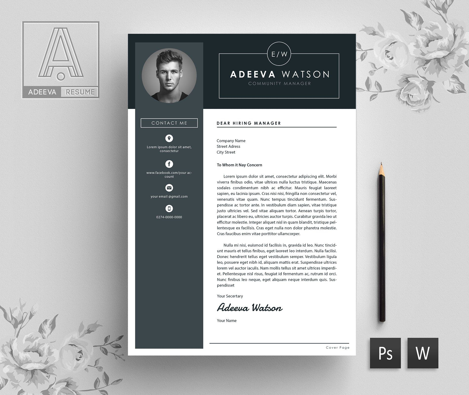 Professional Resume Template Watson Resume template