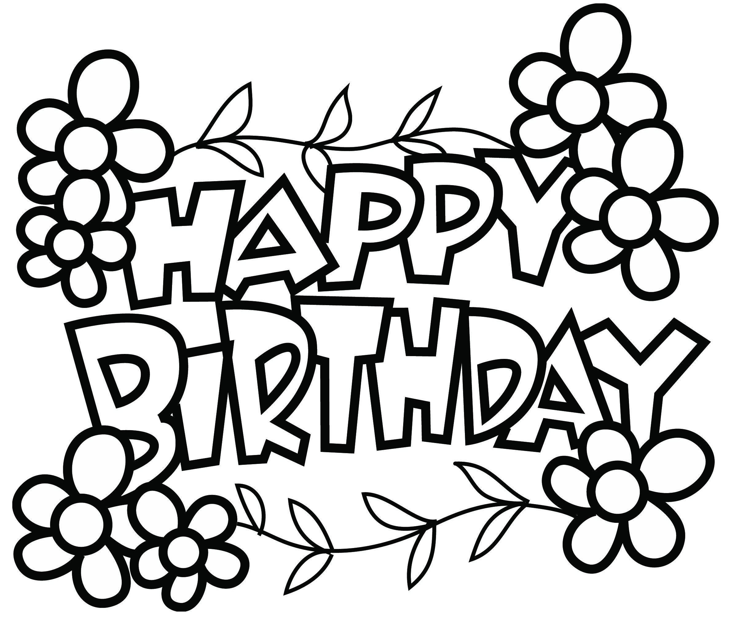 Pin by myfreeprintablecoloringpages on happy birthday coloring
