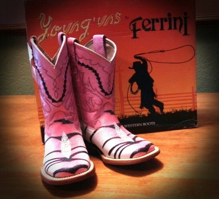 d7aa252c851 Ferrini Pink Zebra Stingray Cowgirl Boots for my Toddler! | Western ...