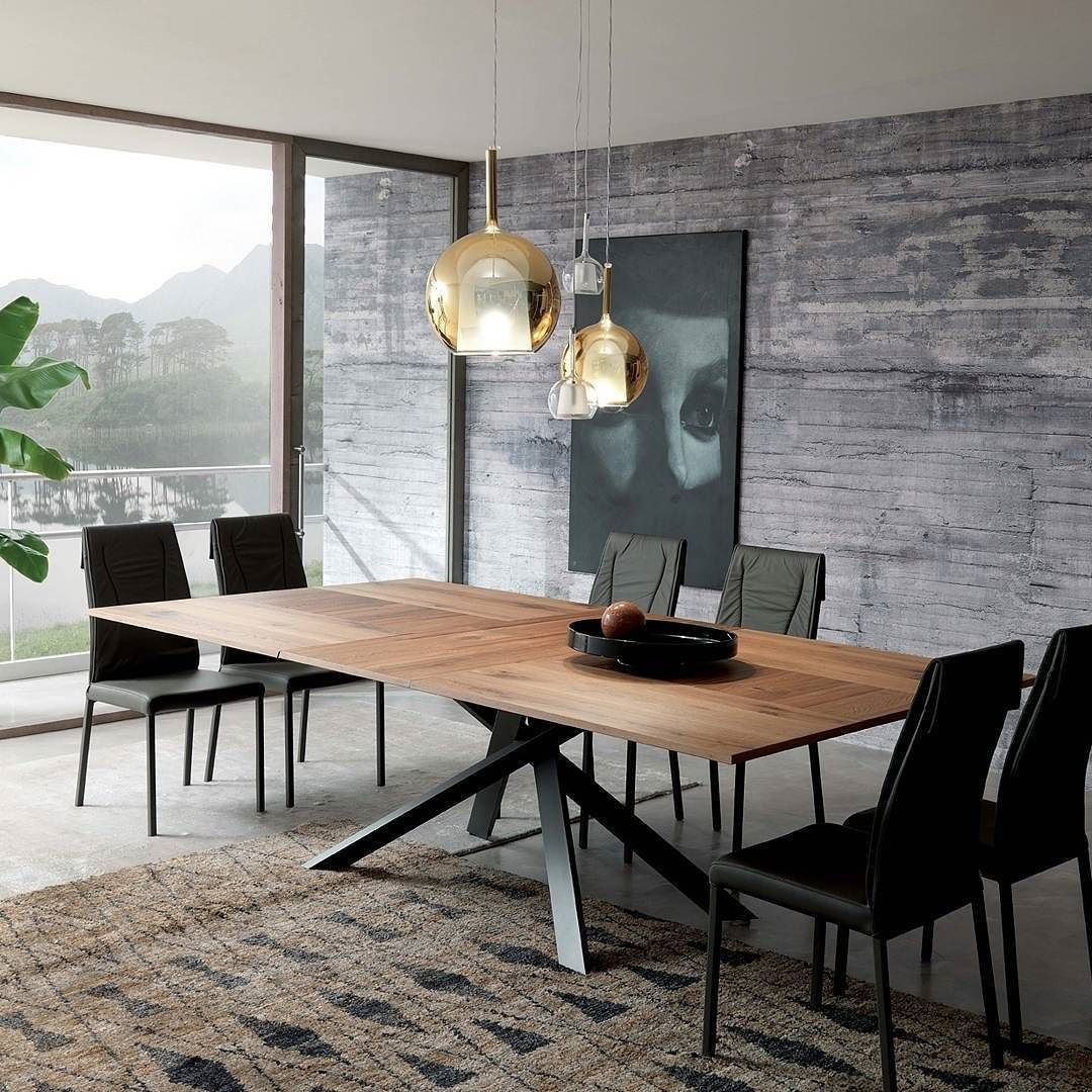 Der Ozzio Tisch 4x4 ist ein Design Esstisch mit besonderem Ausklappmechanismus Tisch Esstisch