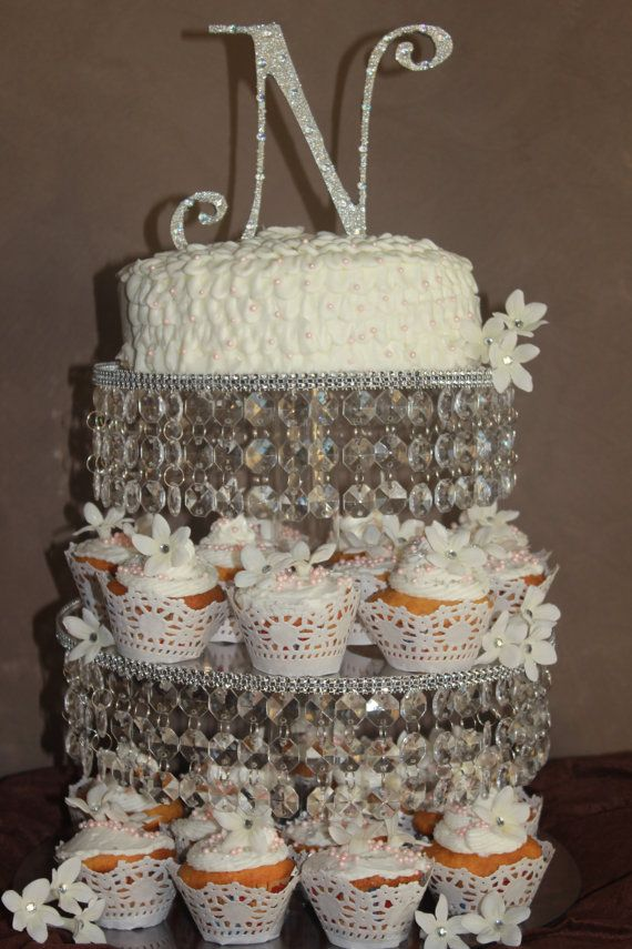 Cupcake Stand 3 Tier Crystal Bling