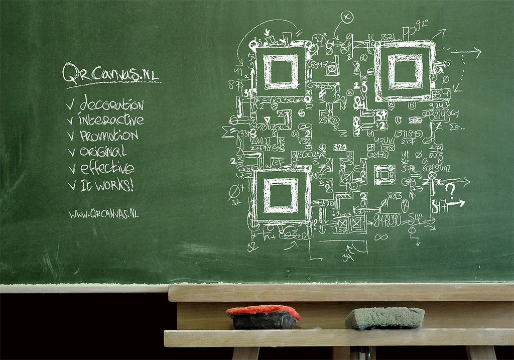"QR code design ""Everyting = math"" 