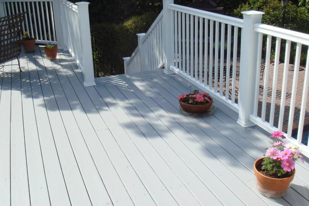 Superb White Deck Paint #11 White Painted Wood Deck