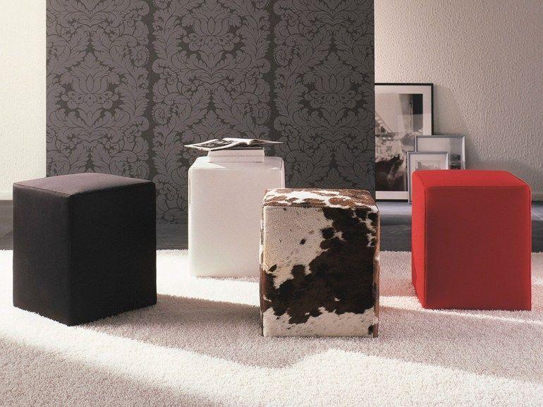 Pouf Arredamento ~ Pouf imbottito in tessuto pouf collezione logos by porada