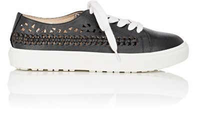 SAM EDELMAN Raina Laser-Cut Leather Sneakers. #samedelman #shoes #sneakers