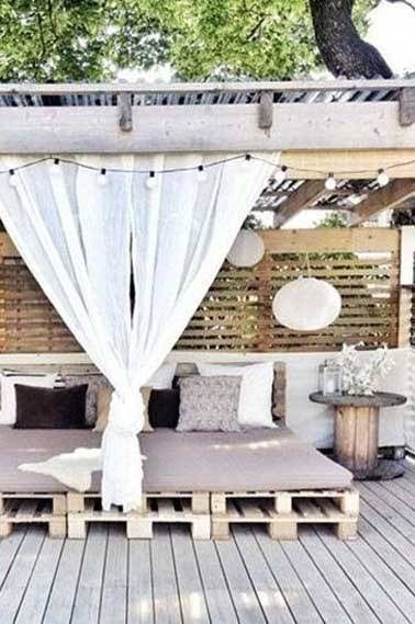 Faire un salon de jardin en palette | Pinterest | Pallet furniture ...
