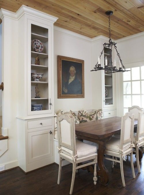 Not Completely My Style But I Love The Idea Of Cabinets On Either Side Dining Room