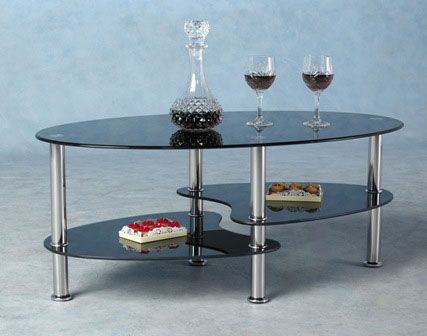 black glass coffee table. Harveys Coffee Table In Black Glass