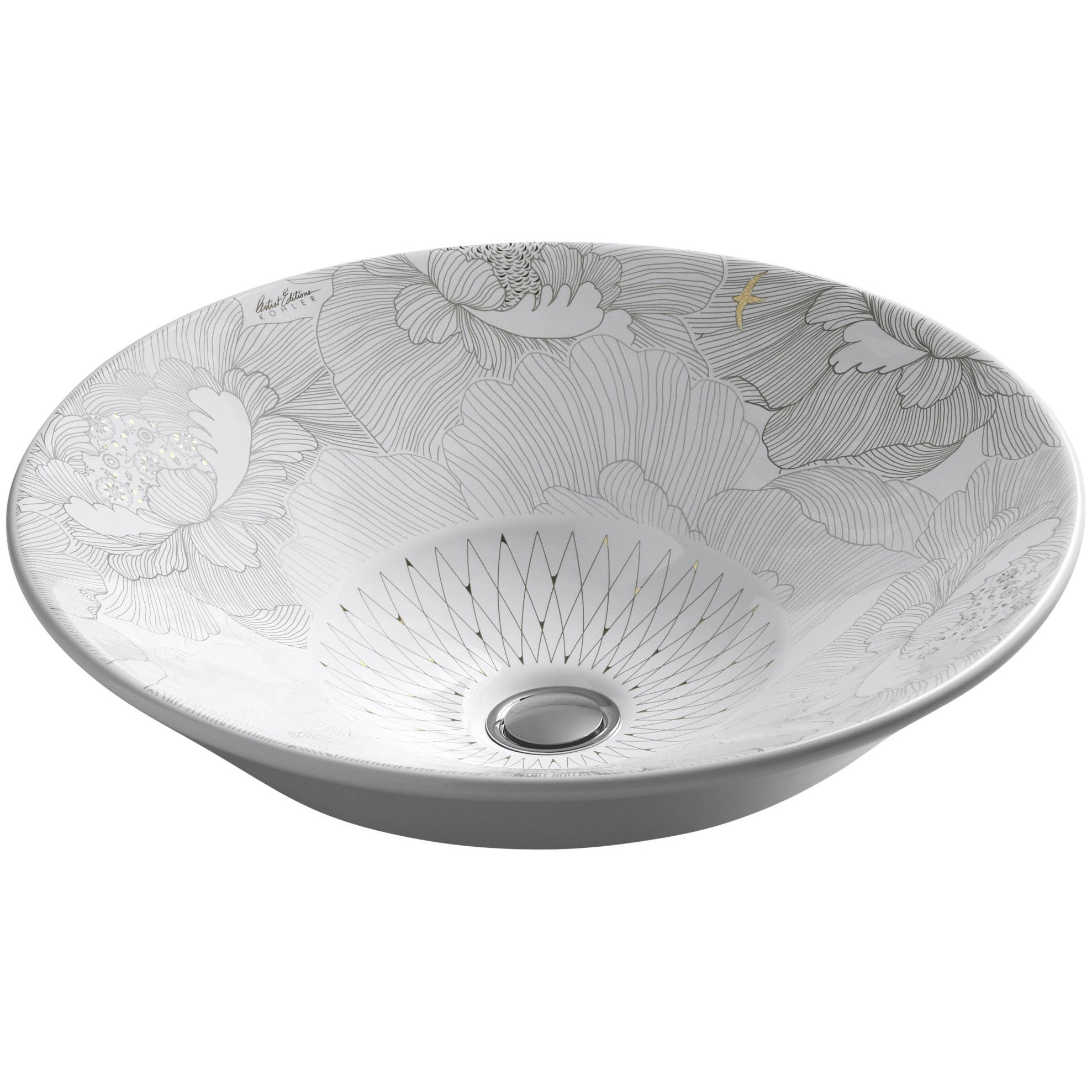 187 kitchen 187 kitchen sinks 187 nativestone 187 farmhouse double bowl - Kohler Empress Bouquet Design On Conical Bell Vessel Bathroom Sink