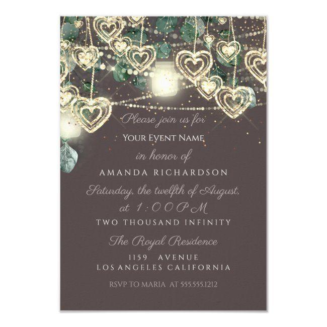 Sweet 16th Green BRIDAL Rustic Woodland Mint Brown Invitation #Ad , #Sponsored, #Rustic#BRIDAL#Mint#Woodland
