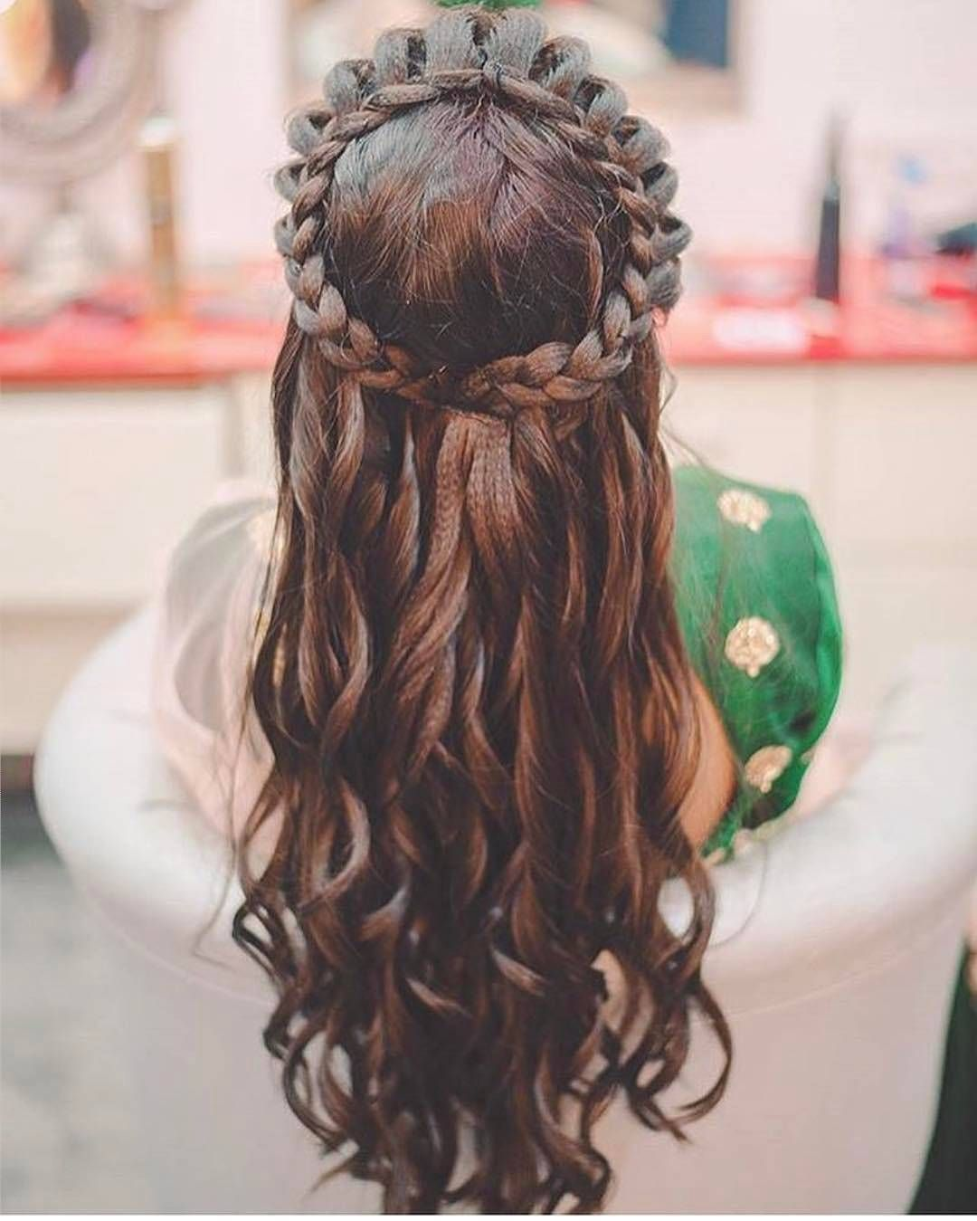 Hairstyle India On Instagram Hair Style Goals Hairstyle India Wedding Traditional Desi W Braids For Long Hair Loose Hairstyles Long Hair Styles