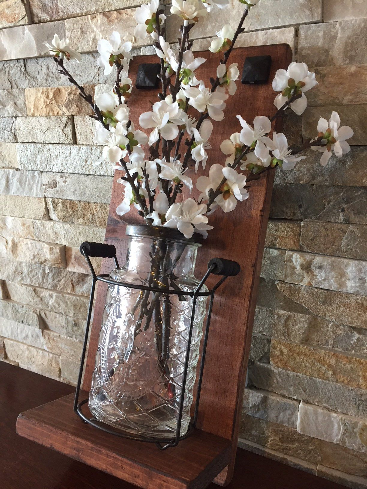 Country Farmhouse Wall Vase Farmhouse Vases Country Farmhouse Decor Vintage Farmhouse Style