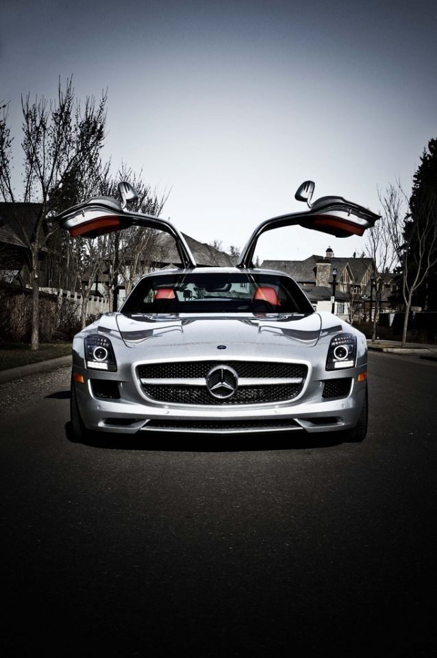 Mercedes Sls Amg Gullwing Doors Likeaboss See More