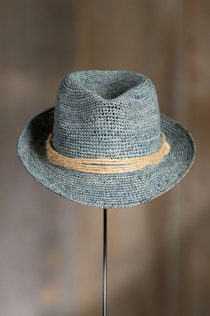 9ab5b681a249d9 Kingwood Crocheted Raffia Fedora Hat | Casual Man | Hats, Fedora hat ...