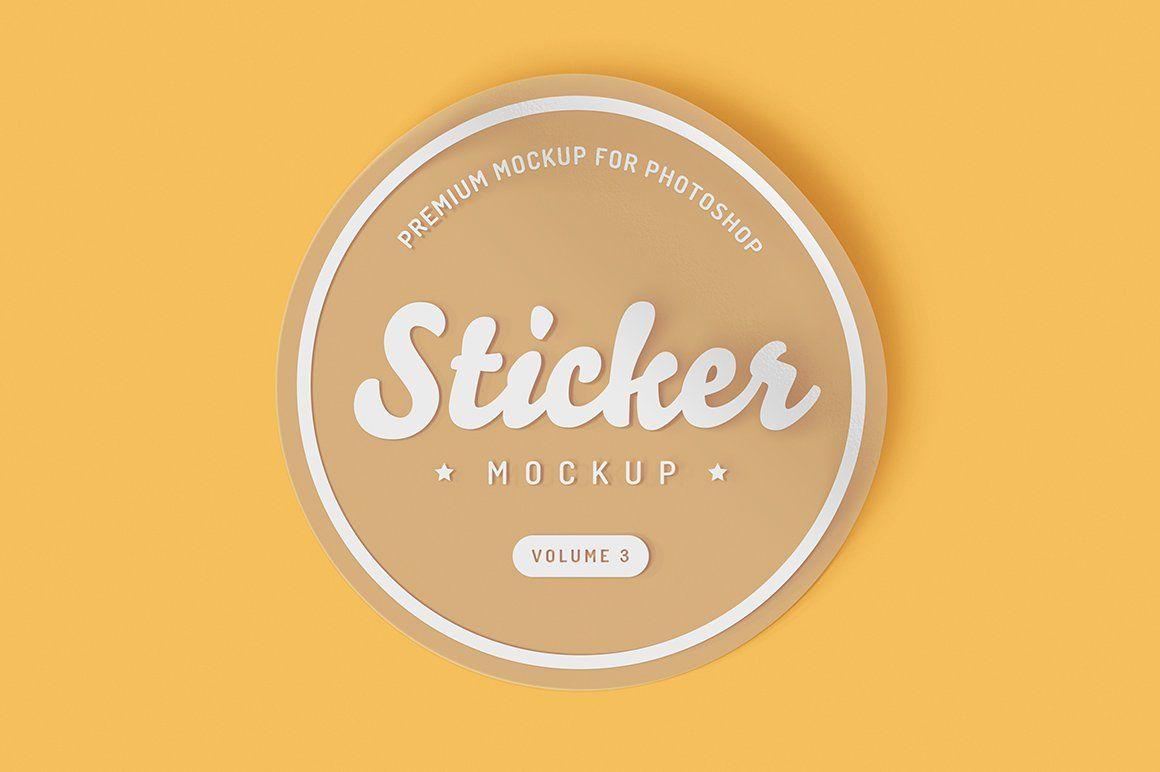 Sticker Mockup Bundle Mockup Stickers Sticker Design