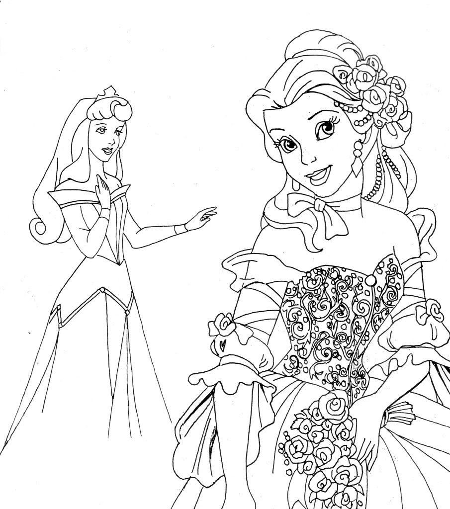 Free coloring disney princess pages - Free Disney Printables Disney Princesses Coloring Pages Printable