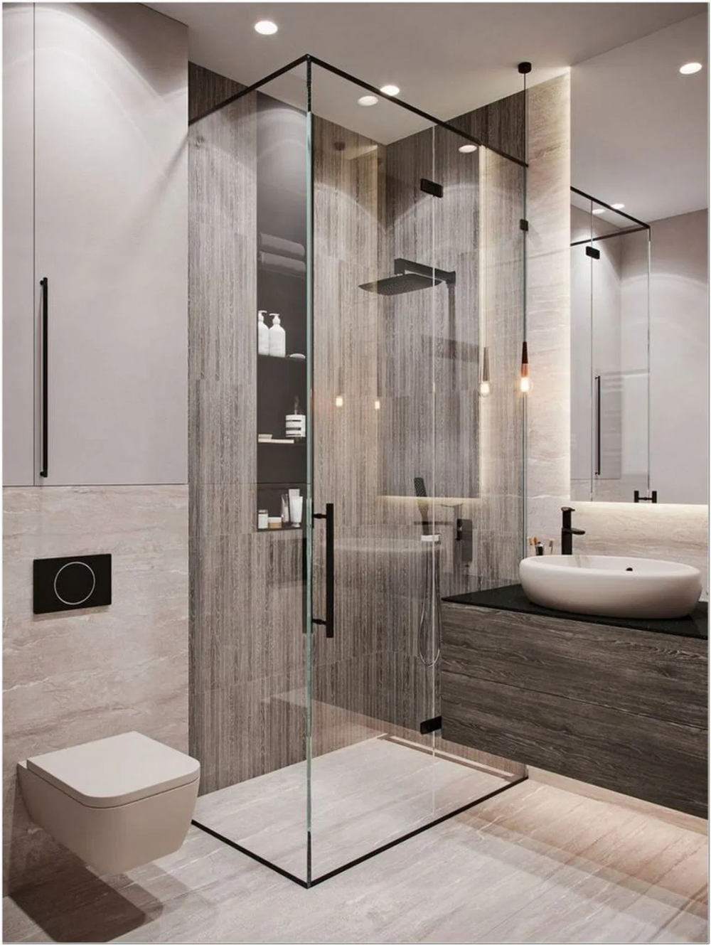 65 Incredible Small Bathroom Remodel Ideas You Must Try 43 In 2020 Bathroom Design Small Bathroom Design Inspiration Bathroom Design
