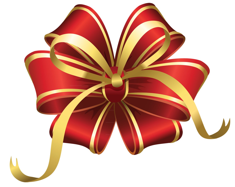 Transparent Christmas Red Decorative Bow PNG Clipart | Новый год ...