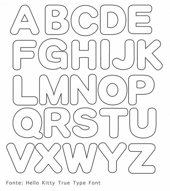 leuke sjabloon letters: | crafts | applique letters, alphabet