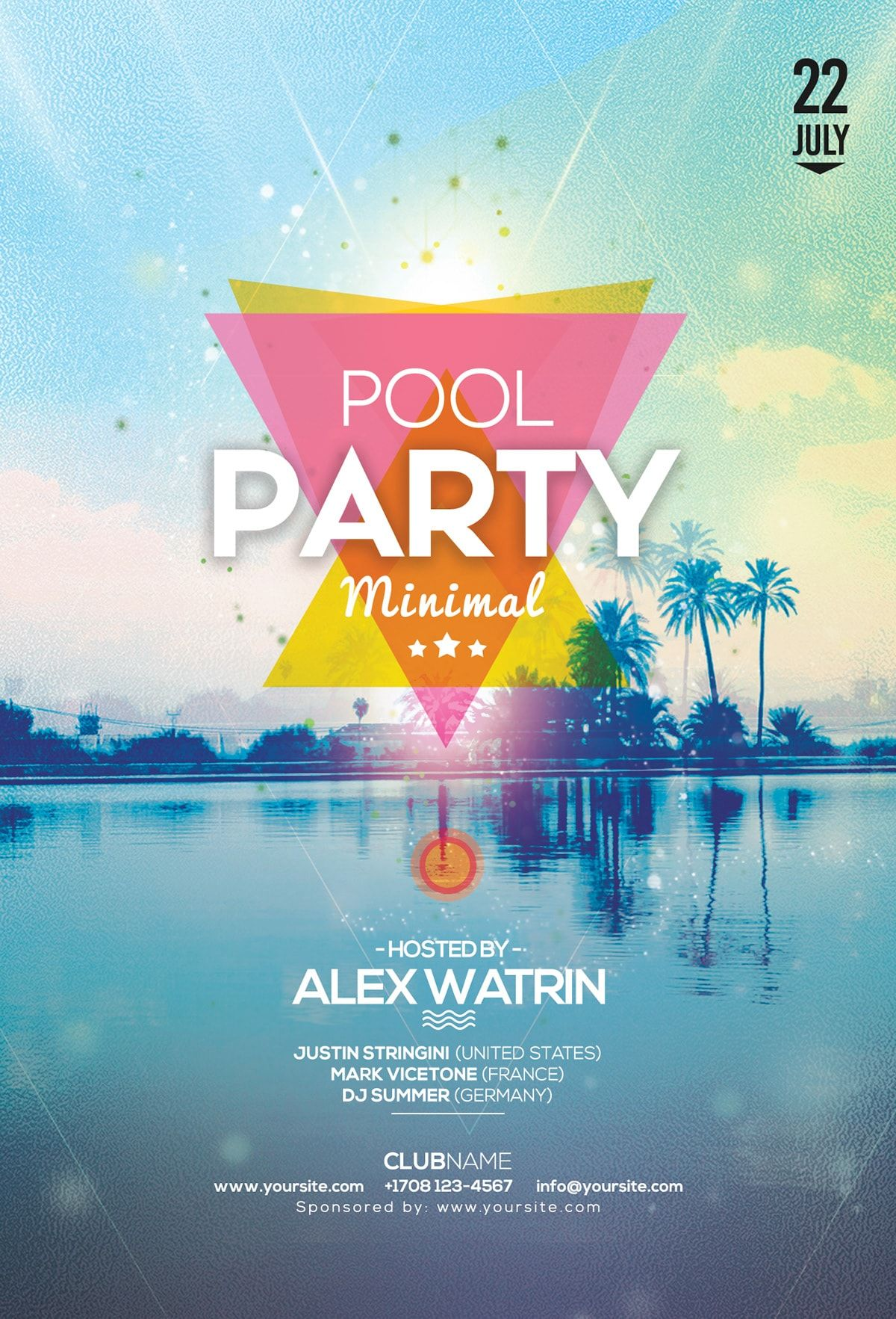 Pool Party Free Psd Flyer Template Pool Parties Flyer Free
