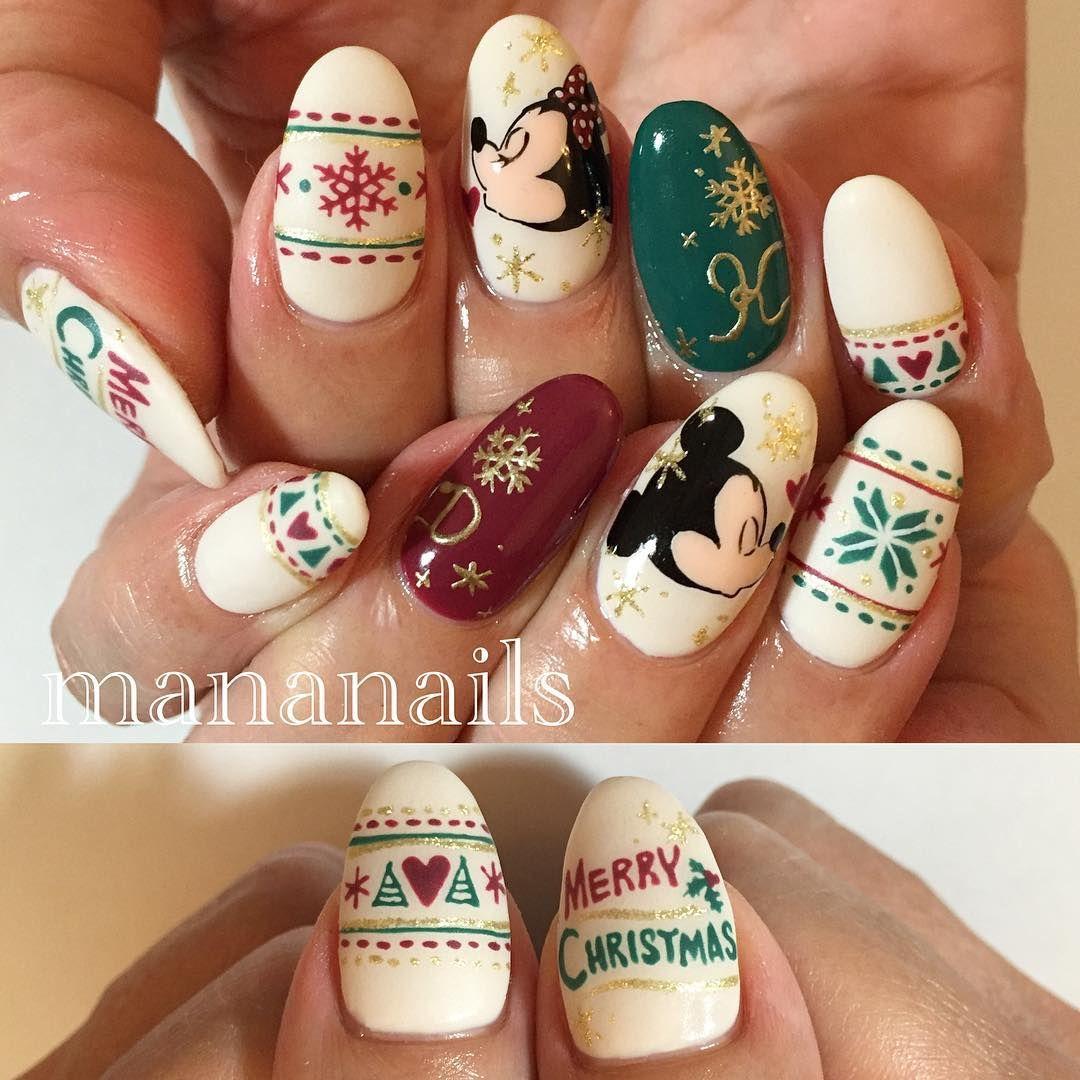 Mickeyminnie Christmas Nail Art Community Pins Pinterest