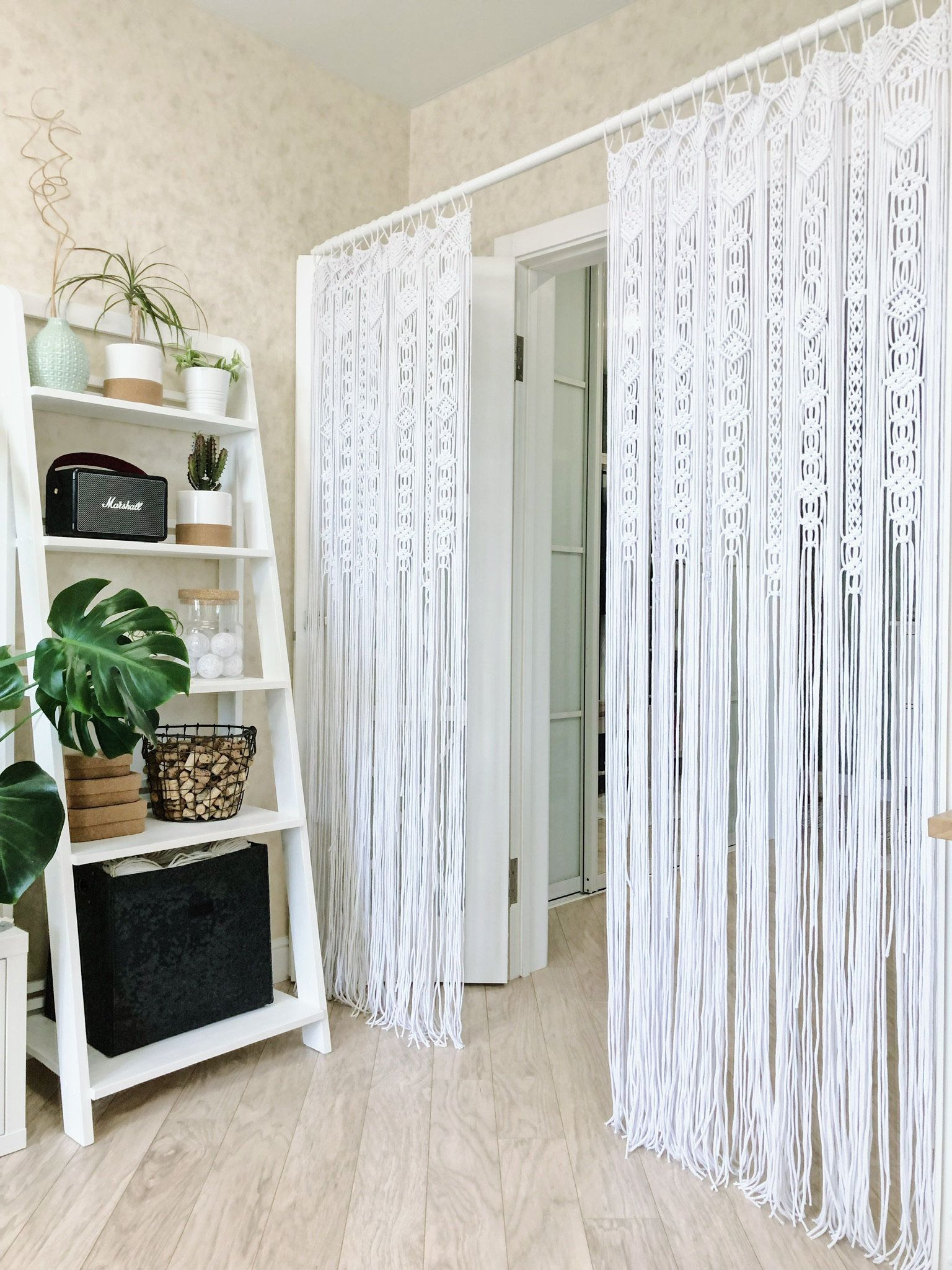 Large Macrame Door Curtains Of 2 Or 1 Panels Crocheted Entry Etsy Macrame Door Curtain Door Curtains Curtains Living Room
